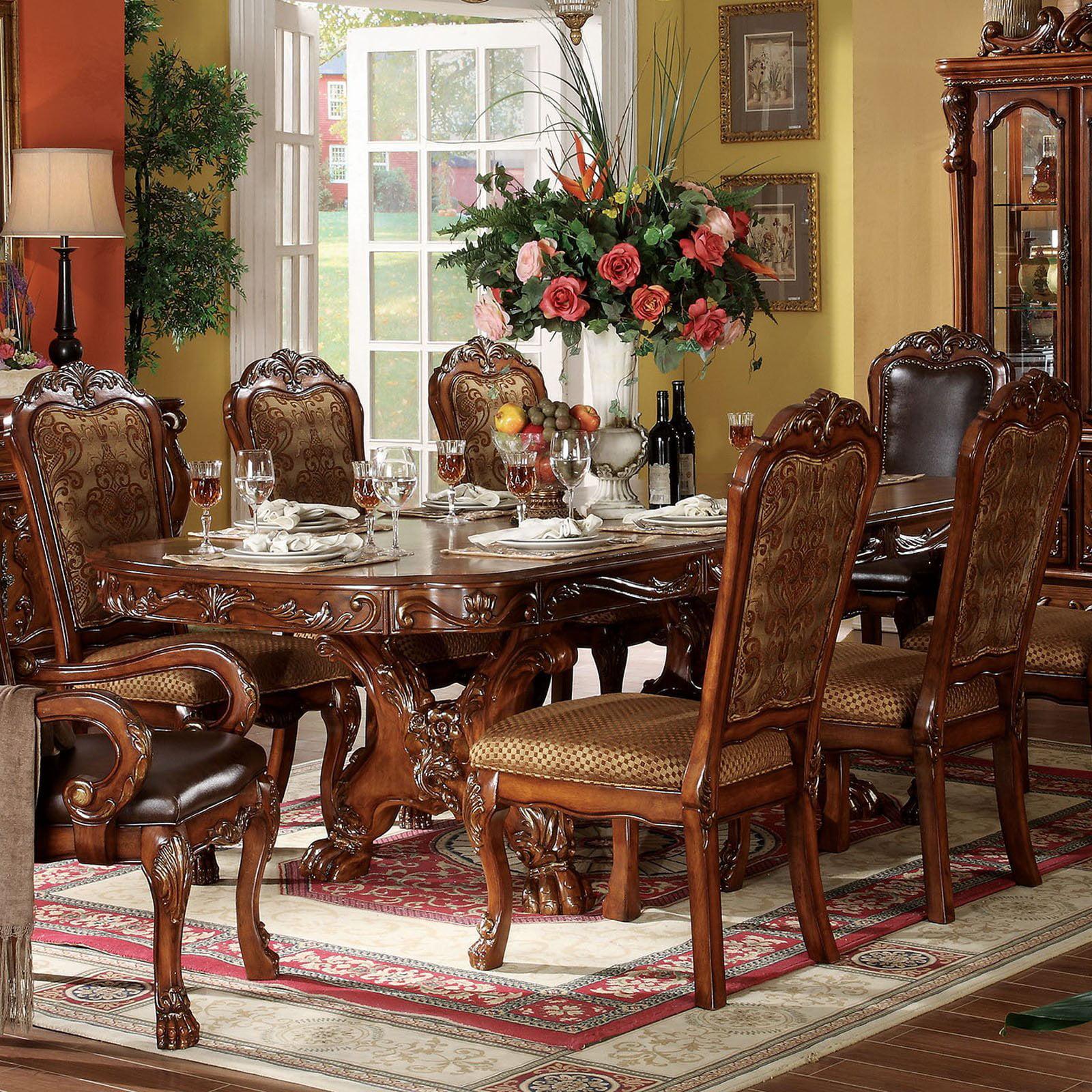 Acme Furniture Dresden Rectangular Trestle Dining Table
