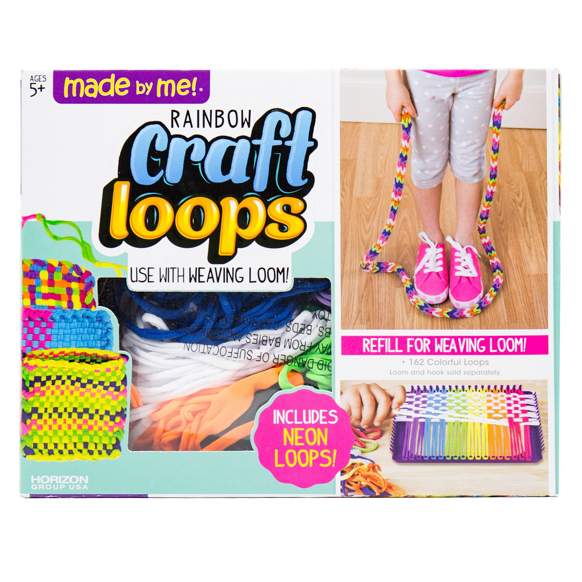 Loom Potholder Loops Weaving Loom Loops,195 Pieces Weaving Craft Loops Set for DIY Crafts Supplies 7 Inch