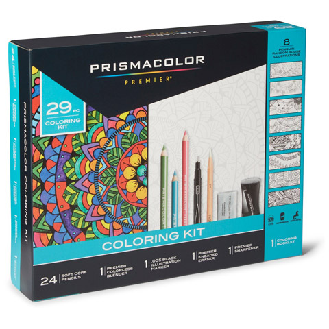 Prismacolor Complete Coloring Set, Inlucdes Coloring Book and Pencils