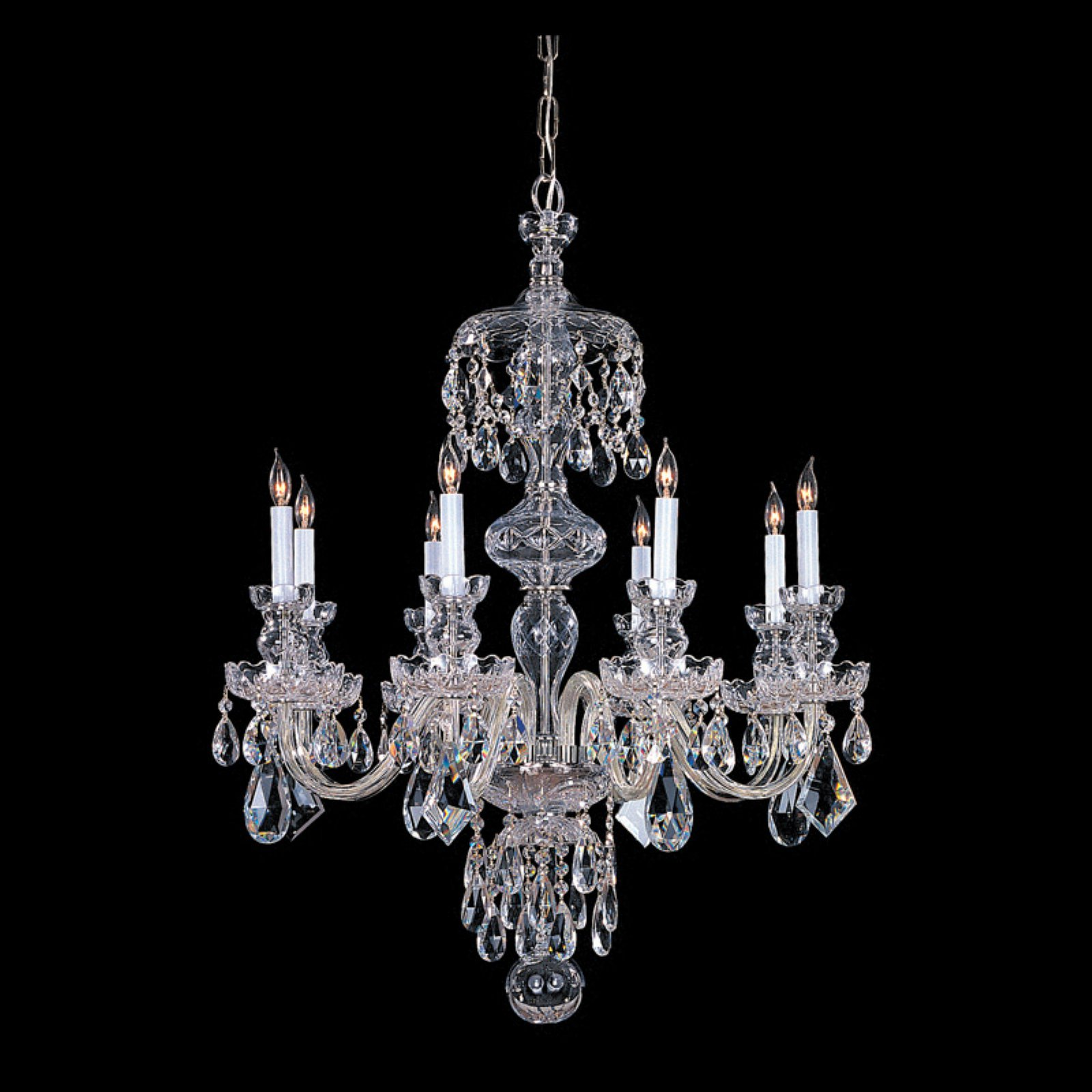 Crystorama 1148-CH-CL-MWP Traditional Crystal Chandelier 28W in. by Crystorama