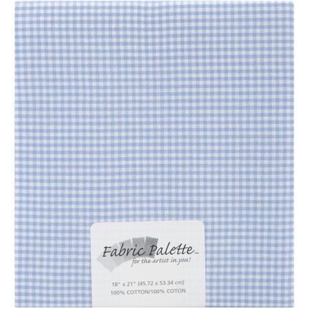 "Fabric Palette Precut 18""X21"" 1/Pkg-Blue Gingham"