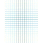 3-Hole Punched Graph Paper With Chipboard Back, White