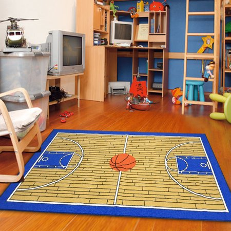 Furnish my Place Basketball Court Kids Blue Area Rug