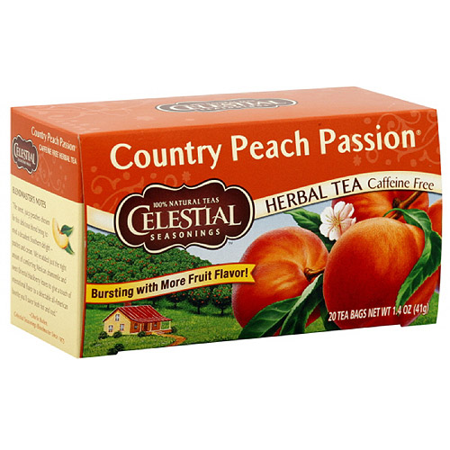 Celestial Seasonings Country Peach Passion Herbal Tea, 20ct (Pack of 6)