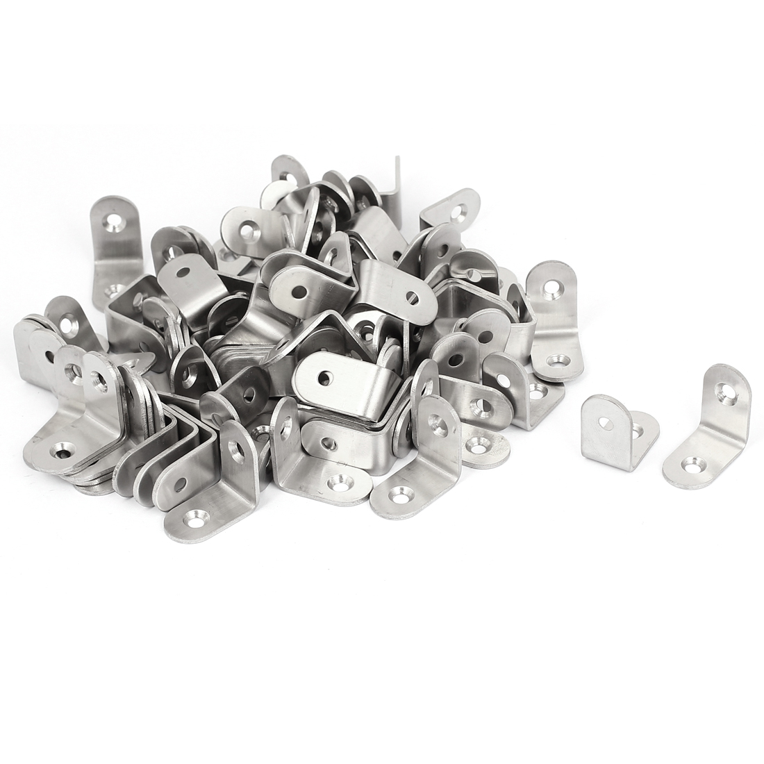 25mmx25mm Stainless Steel Corner Brace Joint Right Angle Bracket Shelf 100Pcs