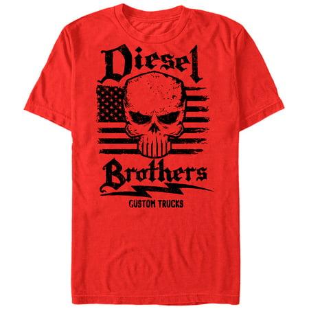 fb725781e Diesel Brothers - Diesel Brothers Men's Custom Truck American Flag T-Shirt  - Walmart.com