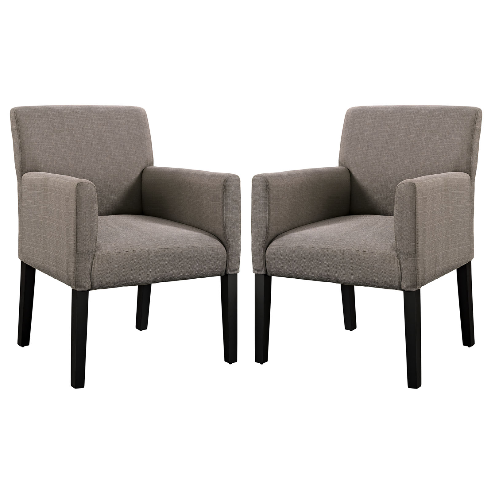 Modern Contemporary Living Room Armchair Set of Two Gray by America Luxury
