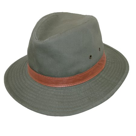 DPC Outdoor Design Mens Washed Twill Rain Repellent UPF 50+ Safari Hat