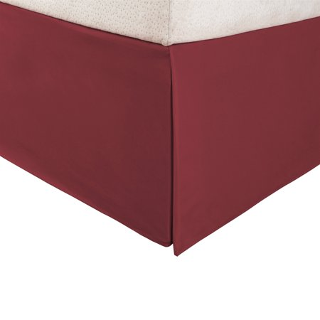 "Superior 1500 Series Microfiber Pleated, Wrinkle Resistant, Platform Solid Bed Skirt with 15"" Drop"