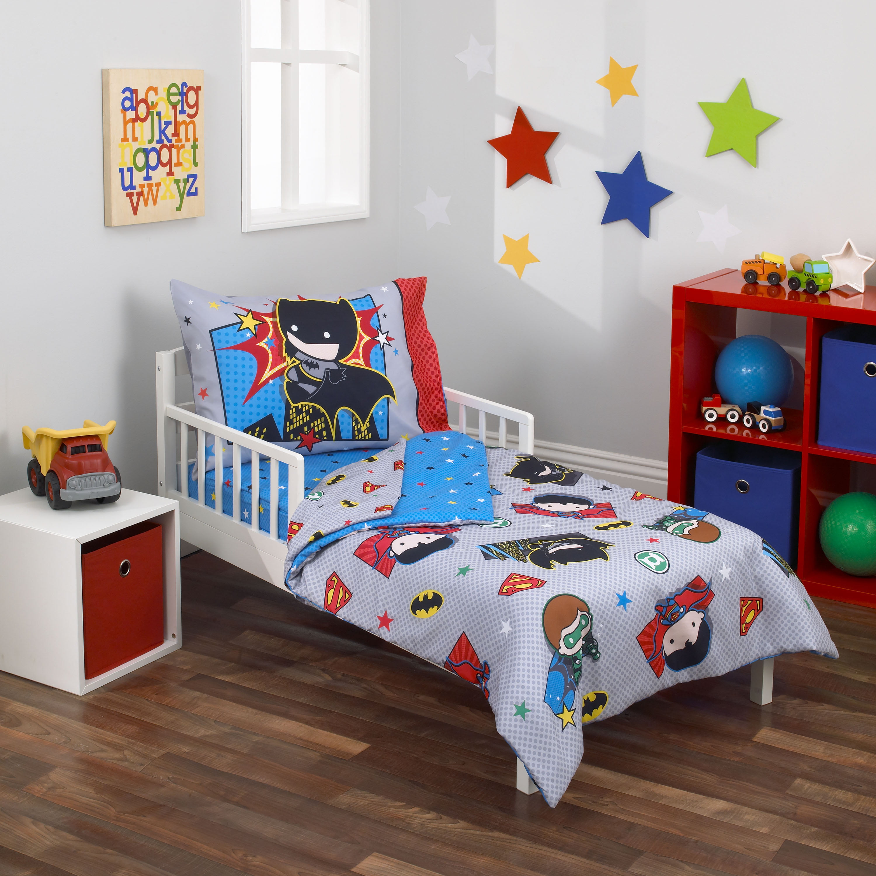 Warner Brothers Justice League 4 Piece Toddler Bedding Set