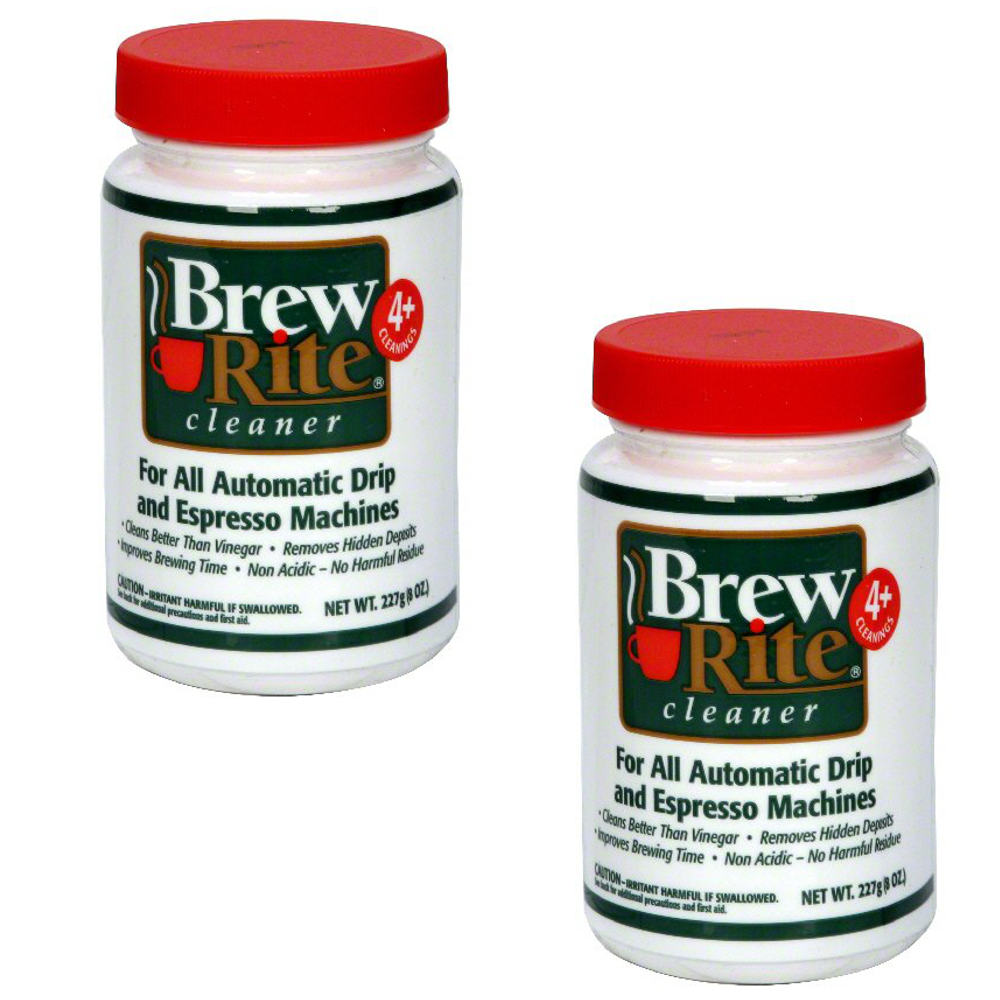 2 Brew Rite Cleaner for Automatic Drip Coffee and Espresso Machines by
