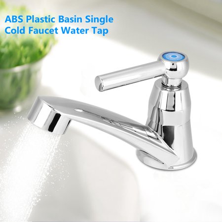Yosoo ABS Plastic Single Cold Faucet Water Tap Bathroom Basin Kitchen Sink Accessories,Water Faucet, Single Cold Water Tap
