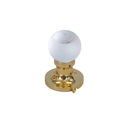 Krystal Touch of New York 3026BPR Smiley Face Privacy Doorknob, 2.5-Inch, Brass