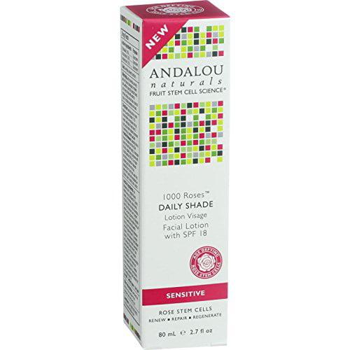1000 Roses Day Shade Facial Lotion SPF18 Andalou Naturals 2.7 oz Lotion