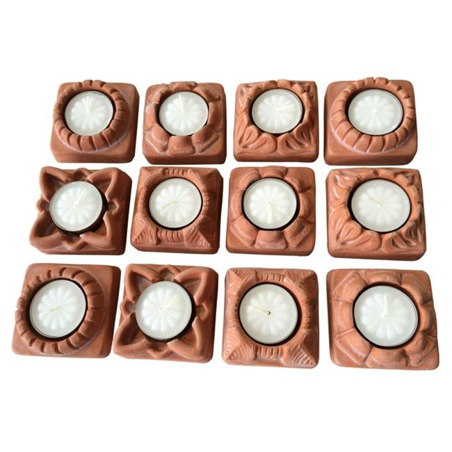 JBK Pottery 02303 Tealight Candle Holder Base, Terra Cotta