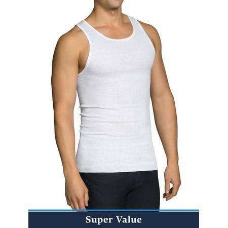 Fruit of the Loom Men's 6+6 Bonus Pack Dual Defense White A-Shirt ()