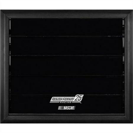 Fanatics Authentic Roush Fenway Racing 25th Anniversary Black Framed Wall-Mountable Logo 10 Die-Cast Car Display Case - No Size