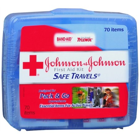 JOHNSON & JOHNSON First Aid Kit Safe Travels 1 Each (Pack of