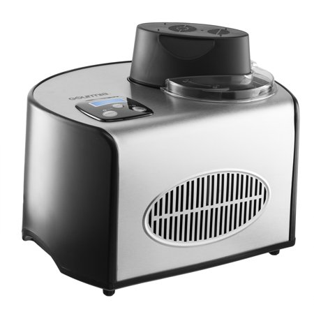 Gourmia GSI-200 Stainless Steel 1.6 quart SleekServe Automatic Ice Cream Maker-Gelato, Sorbet and Frozen Yogurt Machine with Built-in Compressor and LCD Digital Display, Silver