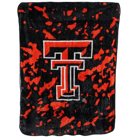 "College Covers Fan Shop Throws Texas Tech Red Raiders 63"" x 86"" Soft Raschel Throw Blanket"