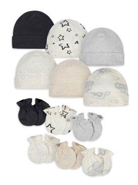 Onesies Brand Baby Boy or Baby Girl Gender Neutral Caps & Mittens Accessories Shower Gift Set, 12-Piece