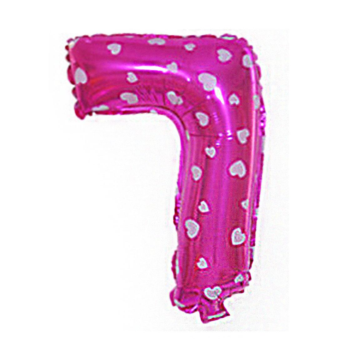 "Unique Bargains 16"" Foil Number 7 Shape Helium Birthday Wedding Festival Decor Balloon"