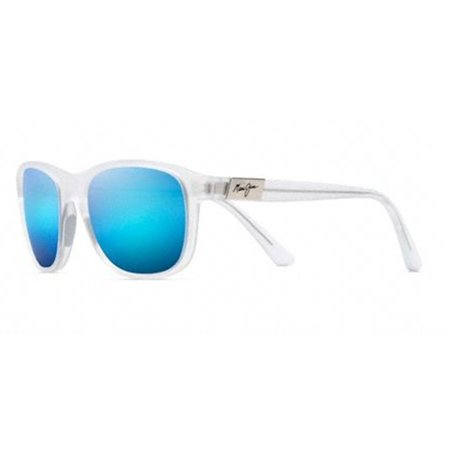 Maui Jim 745 05BCM Wakea Frosted Crystal / Blue Hawaii (Maui Jim Pilot Polarized Sunglasses)