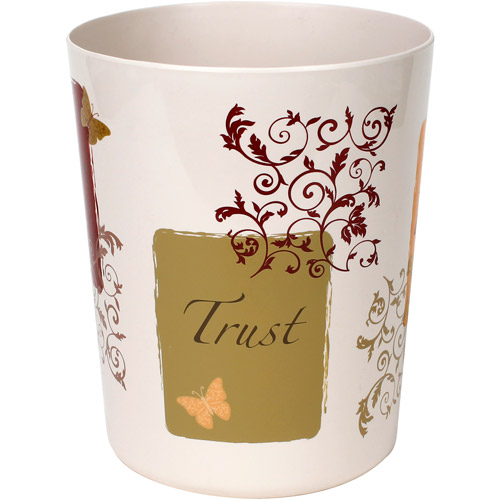 Butterfly Blessings Wastebasket, Red