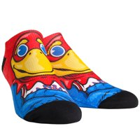 Kansas Jayhawks Rock Em Socks Women's Mascot Low Ankle-Length Socks