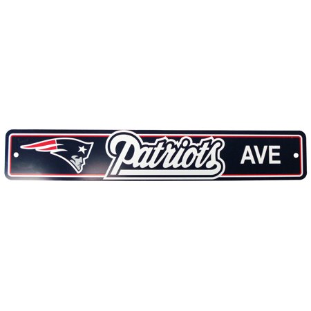 Nfl Pub Sign - NFL New England Patriots 4x24 Street Sign