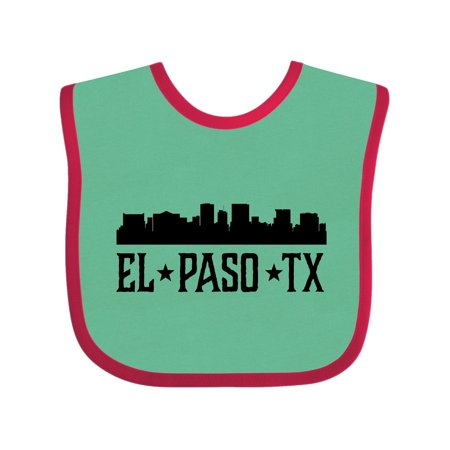 El Paso Texas City Skyline Baby Bib Green and Red One Size - Party City El Paso Texas