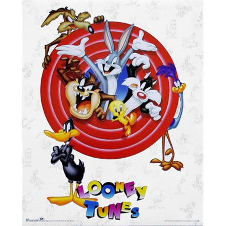 Bugs Bunny & Friends Group Shot Poster Print by Looney Tunes (16 x 20) Bugs Bunny Animation Art