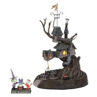 Department 56 Nightmare Before Christmas 6001201 Lock, Shock and Barrel Treehouse Lighted Building