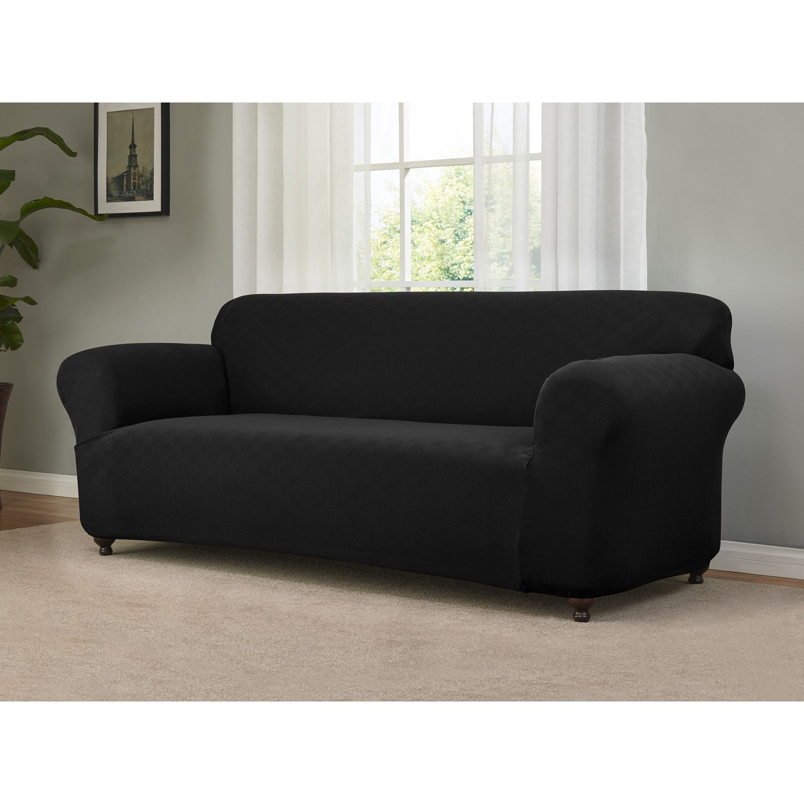 Madison Industries Checkerboard Sofa Stretch Slipcover