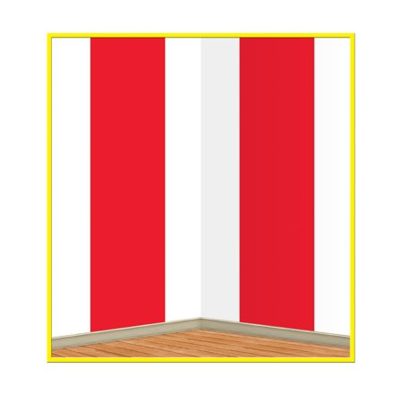 Beistle Party Decoration Accessory Red & White Stripes Backdrop Insta Theme 4' X 30' Pack Of 6](Insta Theme Backdrops)