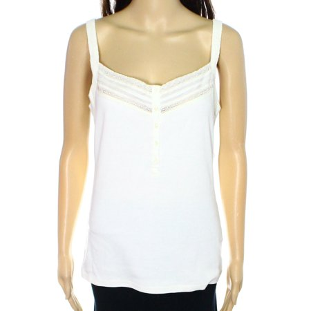 Lauren Ralph Lauren NEW White Ivory Womens Size Small S Laced Camisole