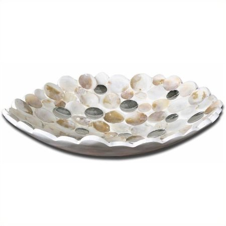 Uttermost Capiz Shell Accented Bowl