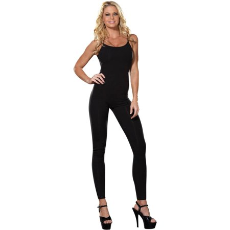 Black Unitard Women's Adult Halloween Costume (Halloween Costumes Short Black Hair)