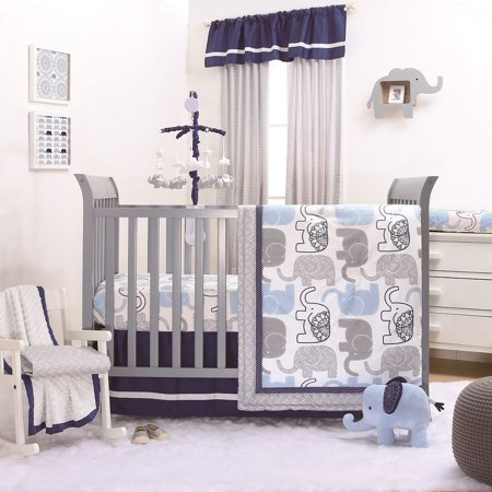 The Peanut Shell 3 Piece Baby Boy Crib Bedding Set