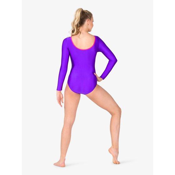 4a0e364b73d3 PERFECTBALANCE - Womens Gymnastics Spliced Print Long Sleeve Leotard ...