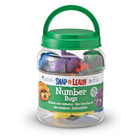 Learning Resources Snap-n-Learn Number Bugs (Plastic Bugs)
