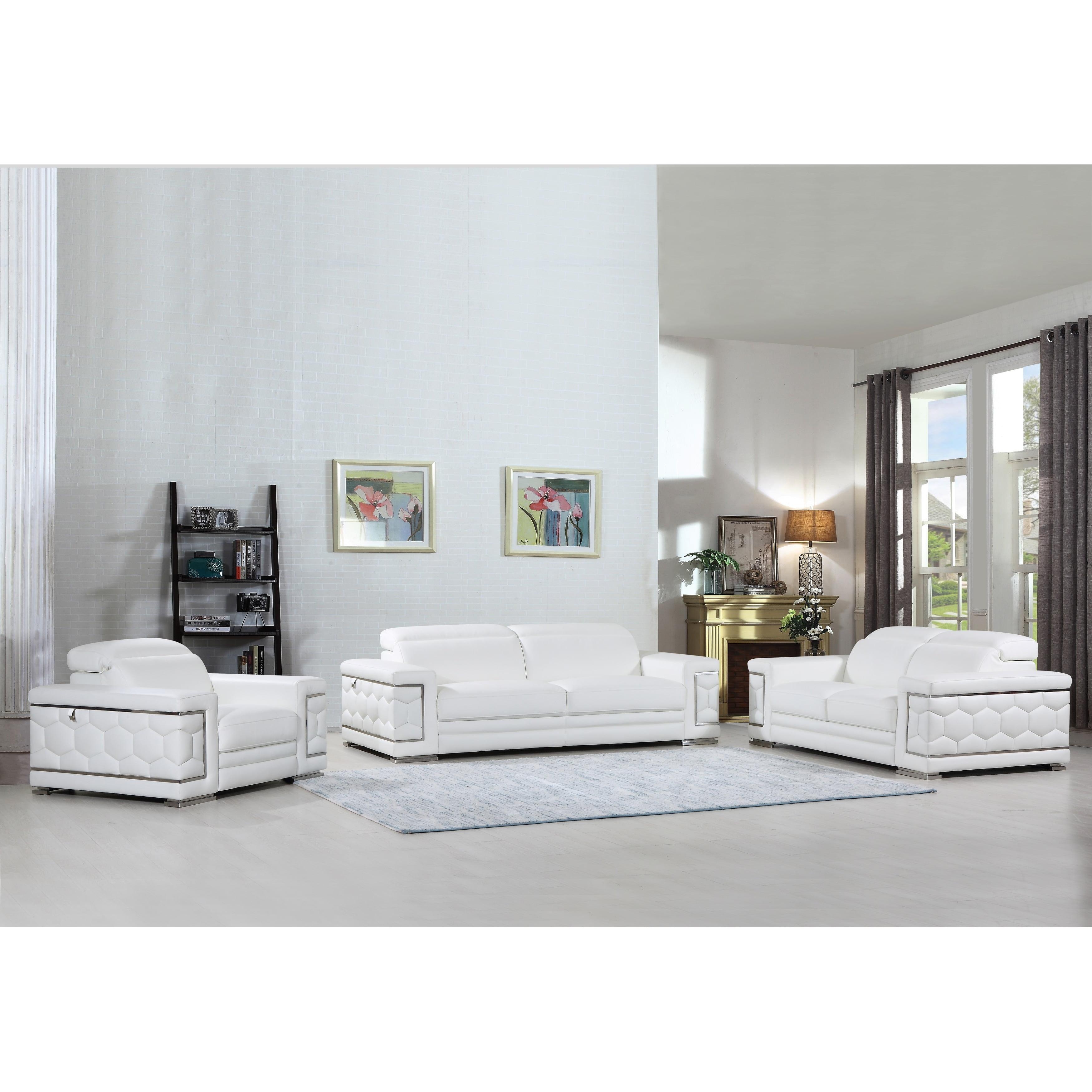 Divanitalia Ferrara Luxury Italian Leather Upholstered