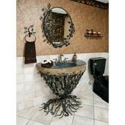Quiescence Organic Suites Metal 25'' Pedestal Bathroom Sink