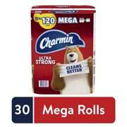 Charmin Ultra Strong Toilet Paper, 30 Mega Rolls, 8580 Sheets