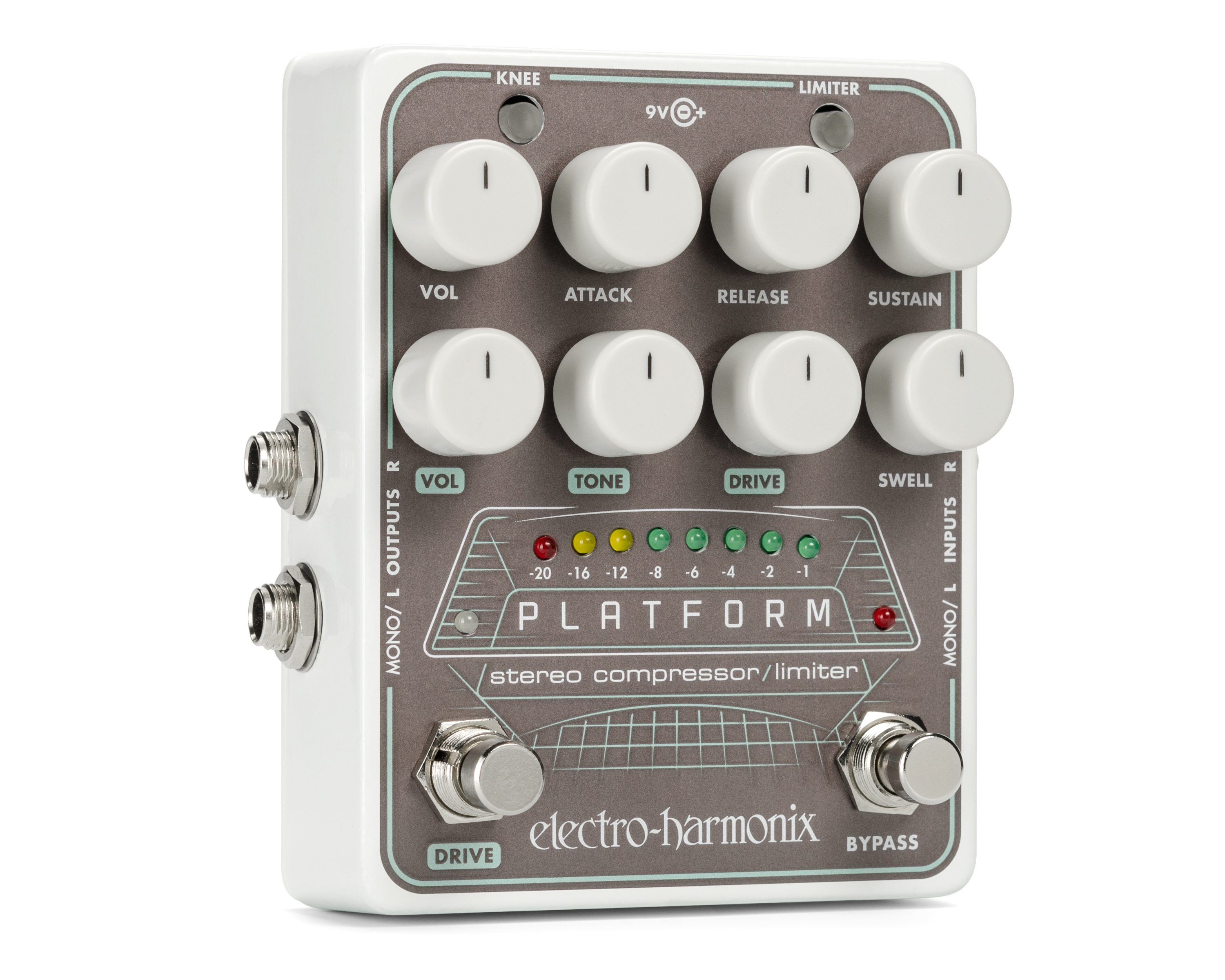 Electro-Harmonix Platform Stereo Compressor Limiter Pedal by ELECTRO HARMONIX