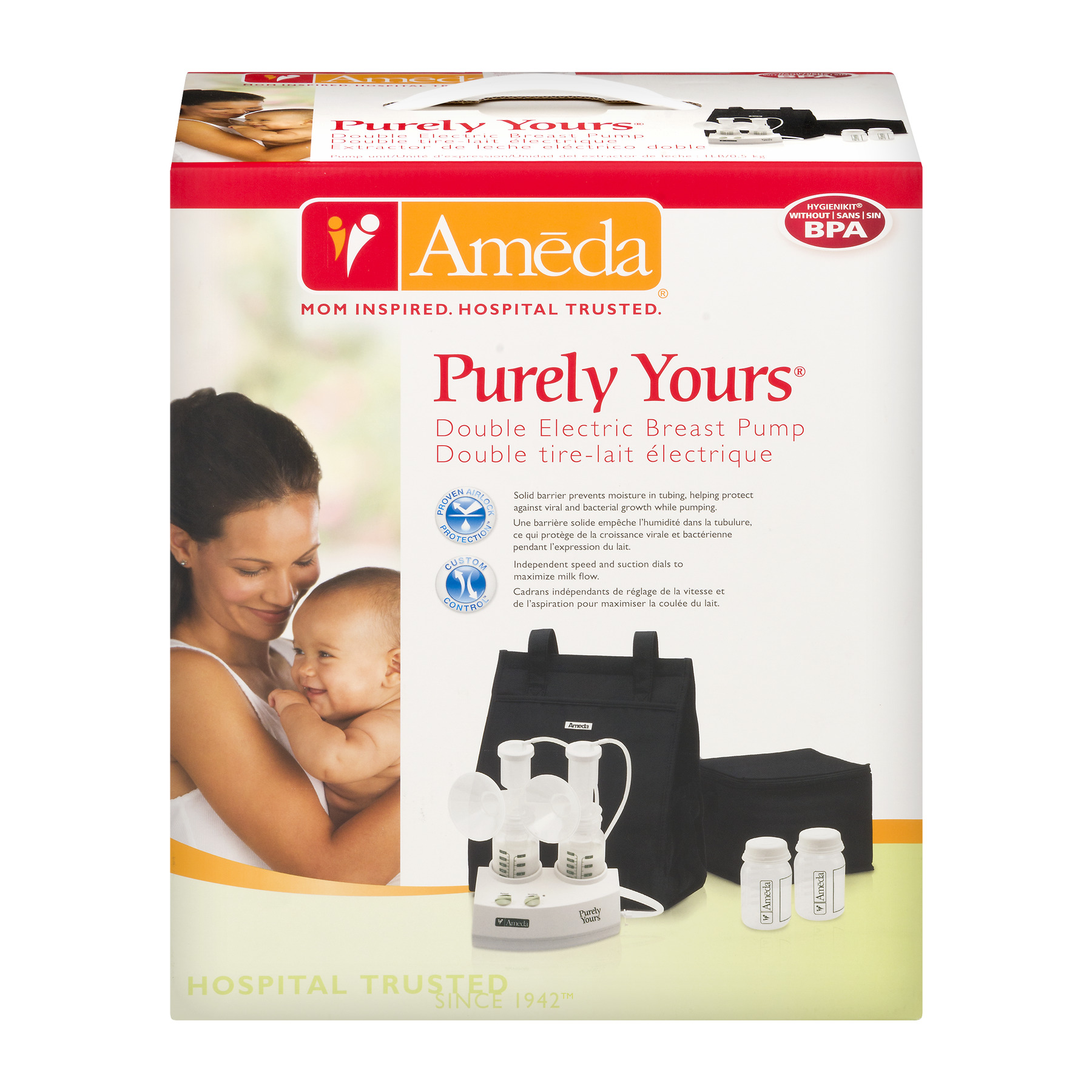 Ameda Purely Yours Double Electric Breast Pump, 1.0 CT
