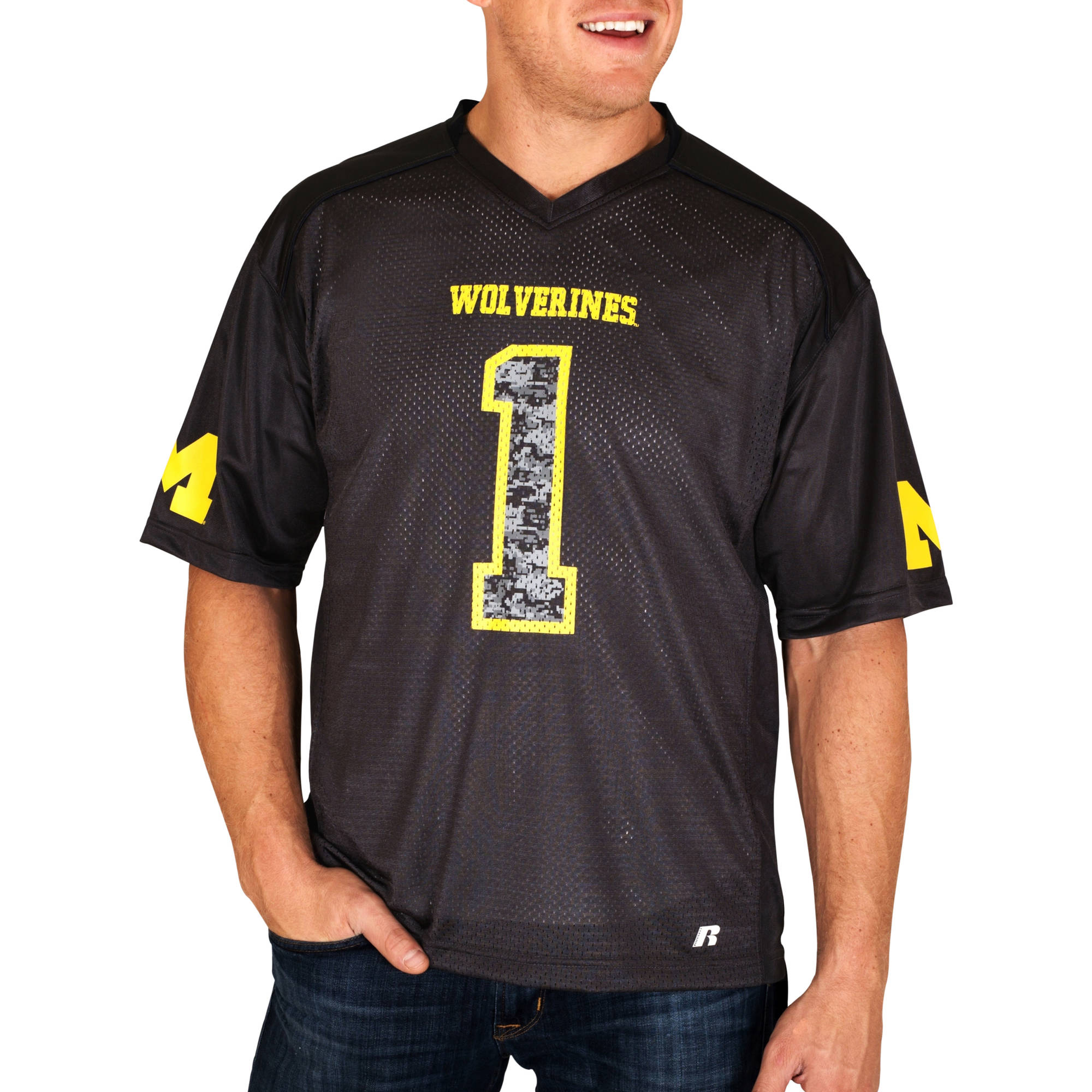 Russell NCAA Michigan Wolverines Men's    Jersey
