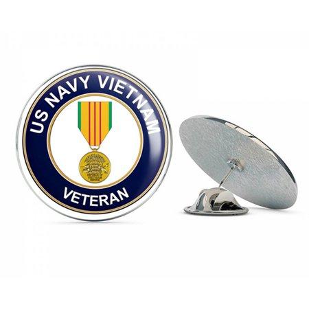 U.S. Navy Vietnam Veteran with Medal Metal 0.75