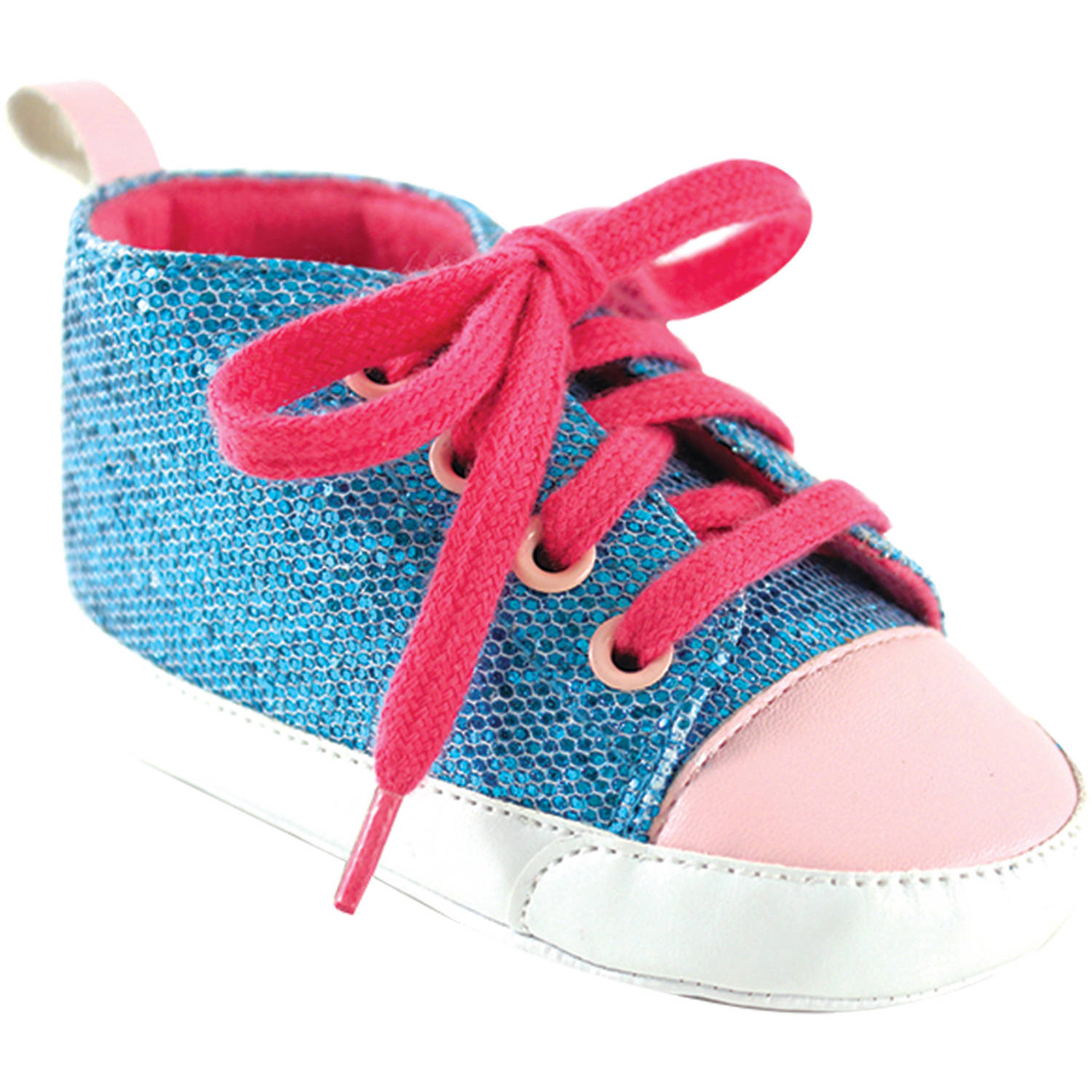 Luvable Friends Newborn Baby Girl Sparkly Sneakers