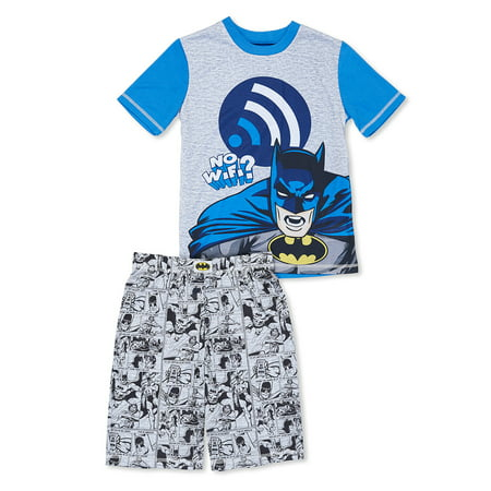 Boys' Batman 2 Piece Pajama Short Set (Little Boy & Big Boy)](Glow In The Dark Skeleton Pajamas Boys)